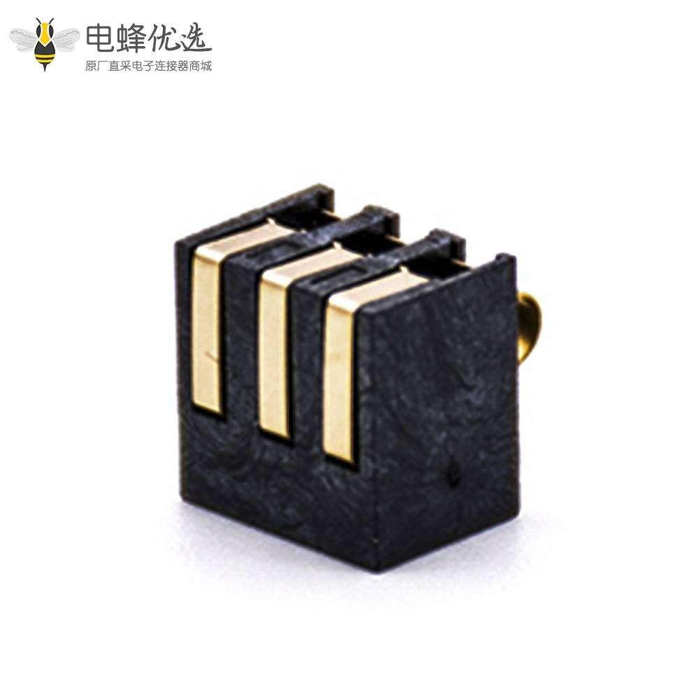 3芯连接器2.5PH塑高5.5H镀金锂电池弹片