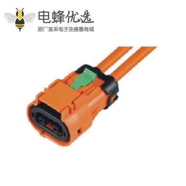 高压连接器插头2芯23A电动汽车内部线束