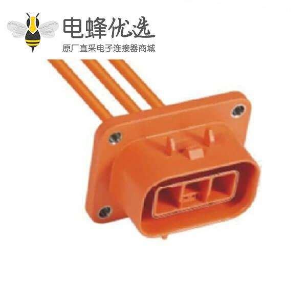高压互锁连接器23A3芯插座电动汽车专用