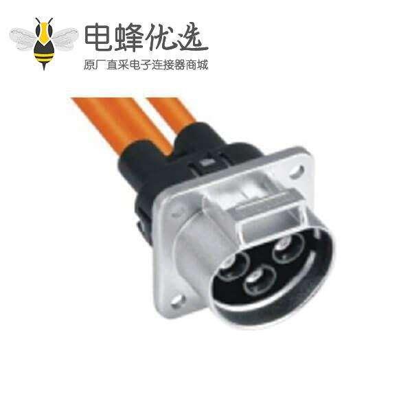 新能源电动汽车连接器3芯35A高压汽车连接器
