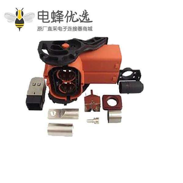 弯头高压连接器 250A 2芯 防水阻燃