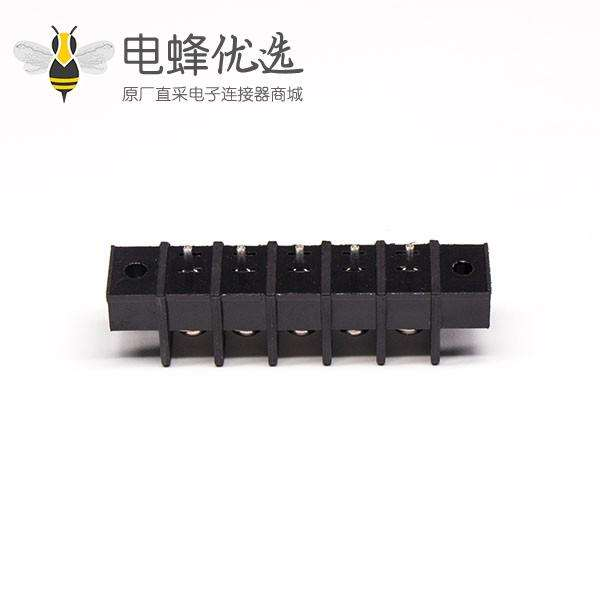 PCB接线端子排5芯直式带法兰安装栅栏式端子接线