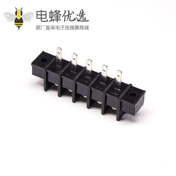 接线排端子直式5芯穿孔式带法兰栅栏式接线端子