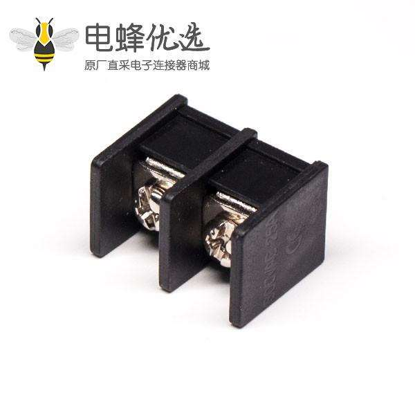 栅栏式接线端子出线2芯直式穿孔式PCB 板安装