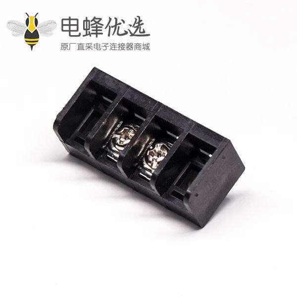 栅栏端子排黑色2芯直式穿孔式PCB板安装