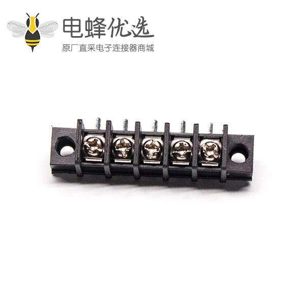 90度折弯接线端子弯式接PCB板带法兰穿孔栅栏式接线端子
