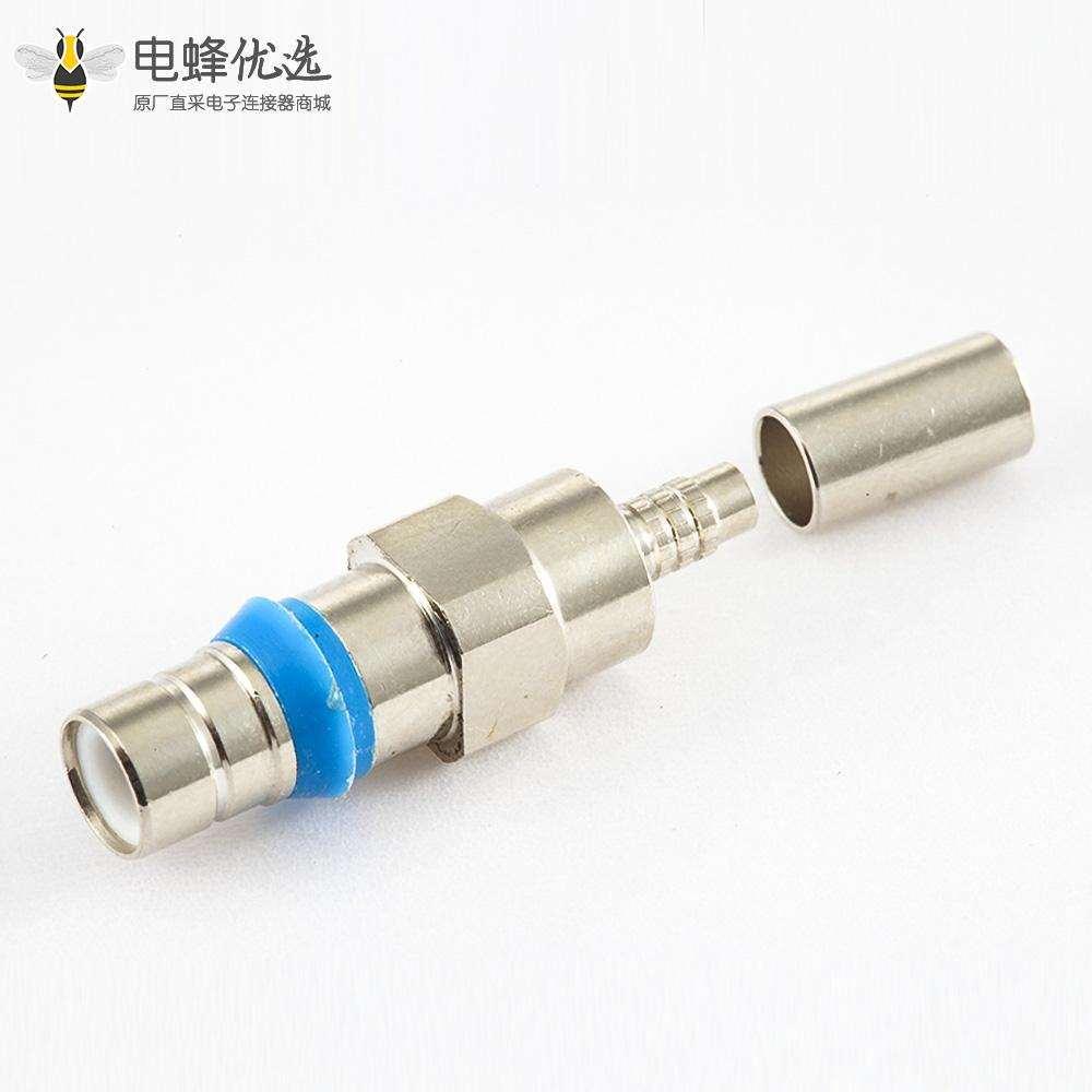压接型SMZ(BT43)连接器公头直式接SYV75-2-2电缆