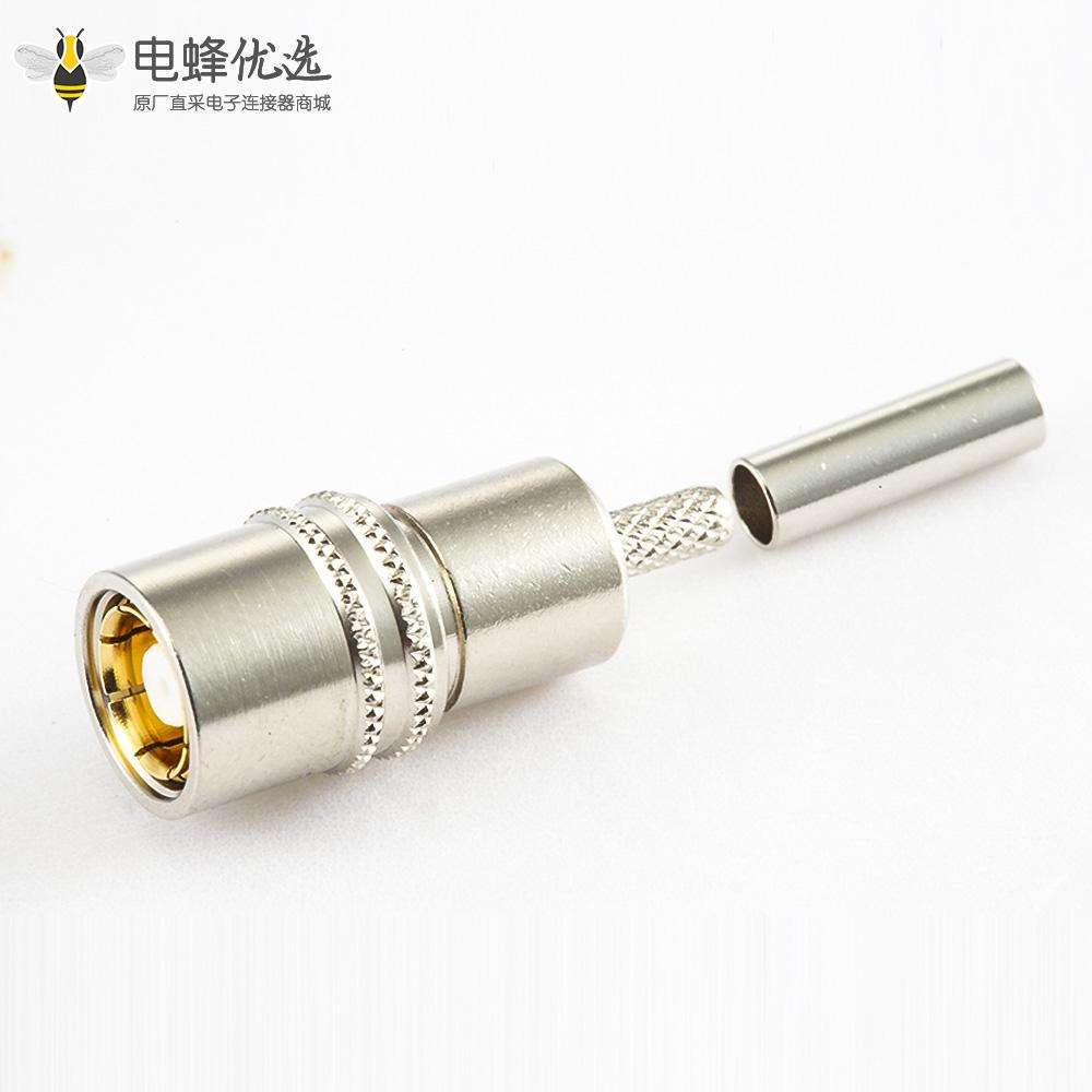 接线SMZ(BT43)连接器母头直式压接SYV75-2-2电缆