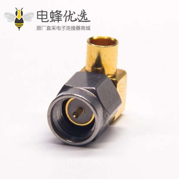 弯式SMA公头连接器镀金