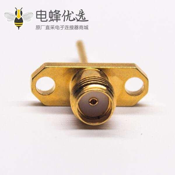 镀金SMA母头2孔法兰接PCB板