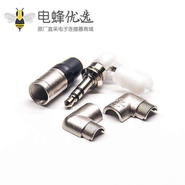 90度原装3.5mm接头公头焊线荧屏设备接插用