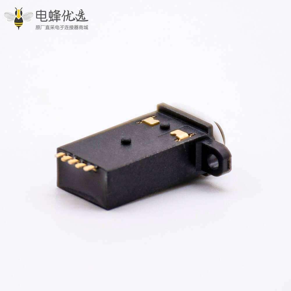 防水耳机座4段防水等级IP67贴板带防水胶圈正面挤压板上型带耳朵3.5mm