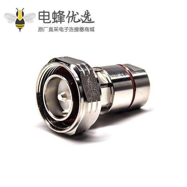 7/16公头锁线50欧姆直式铜镀镍锁线接RG393线材