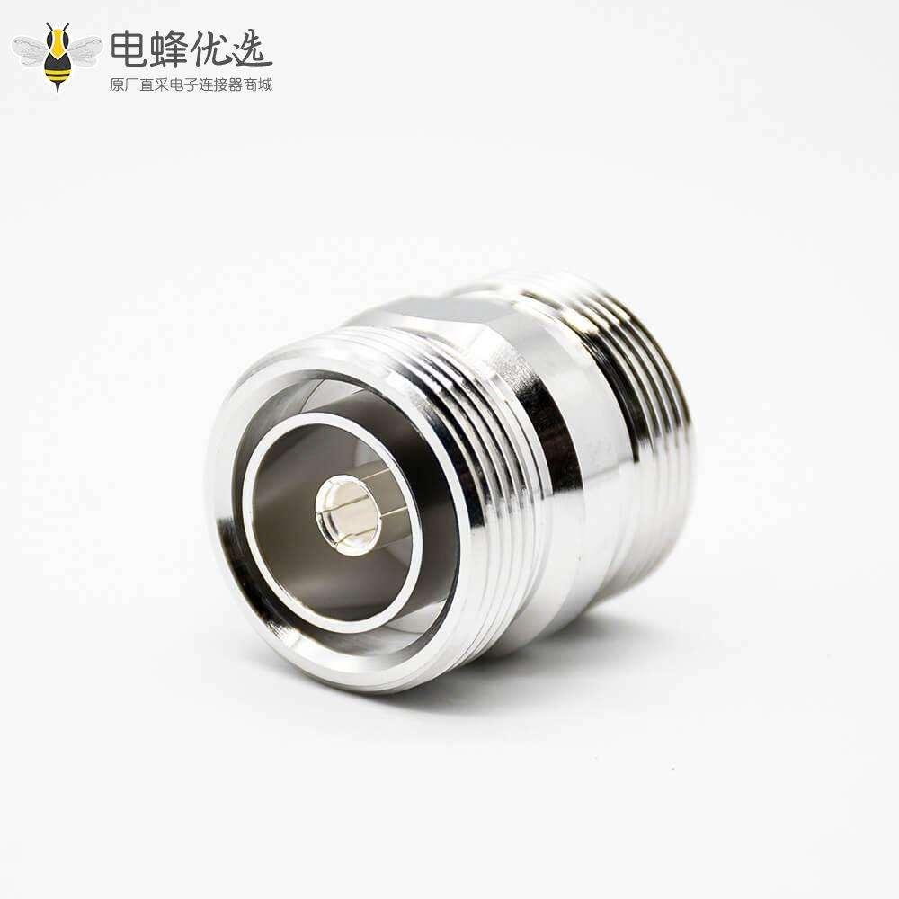 DIN转接头DIN7/16转DIN7/16母转母直式镀镍