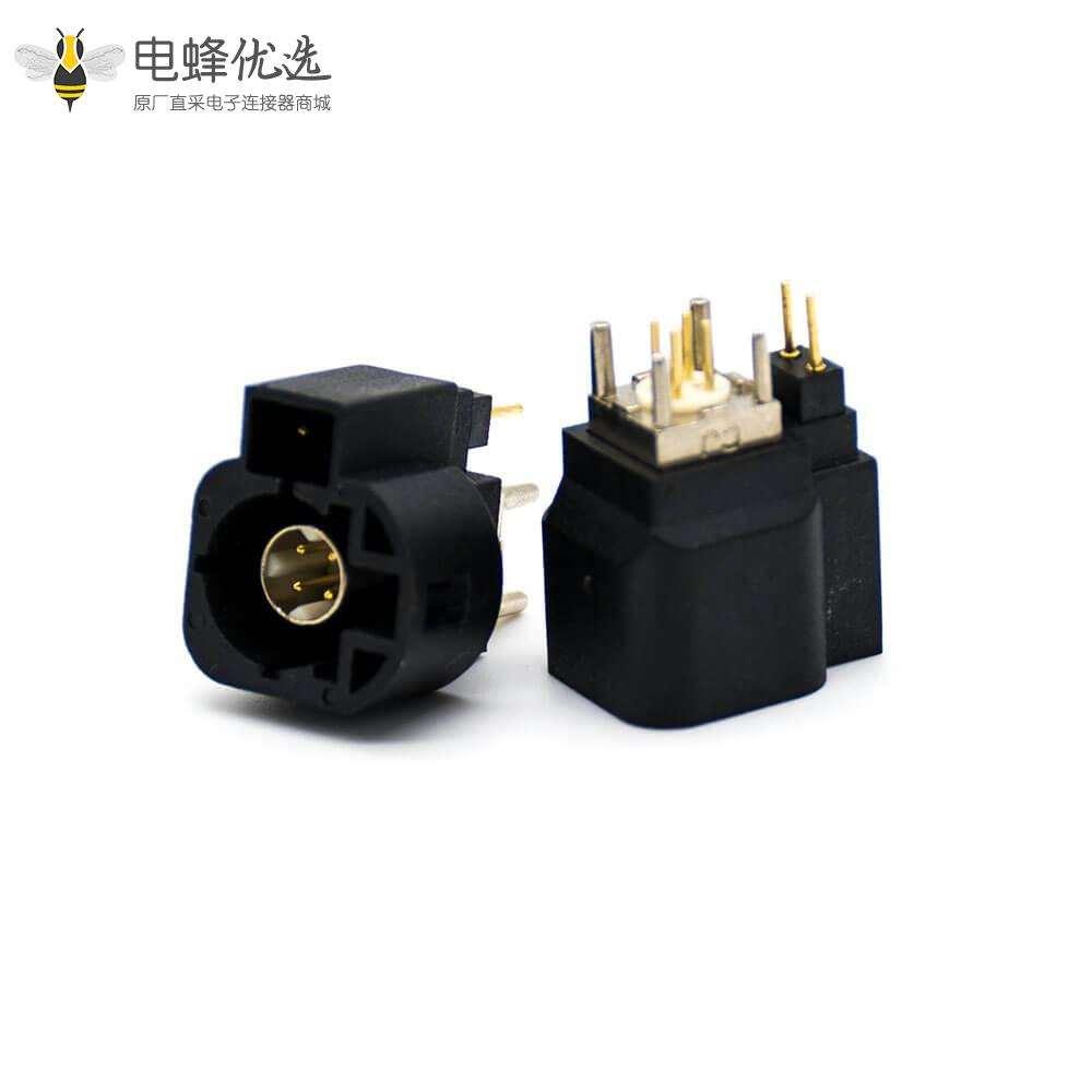 HSD类链接器6芯公头A扣直式插孔连接器