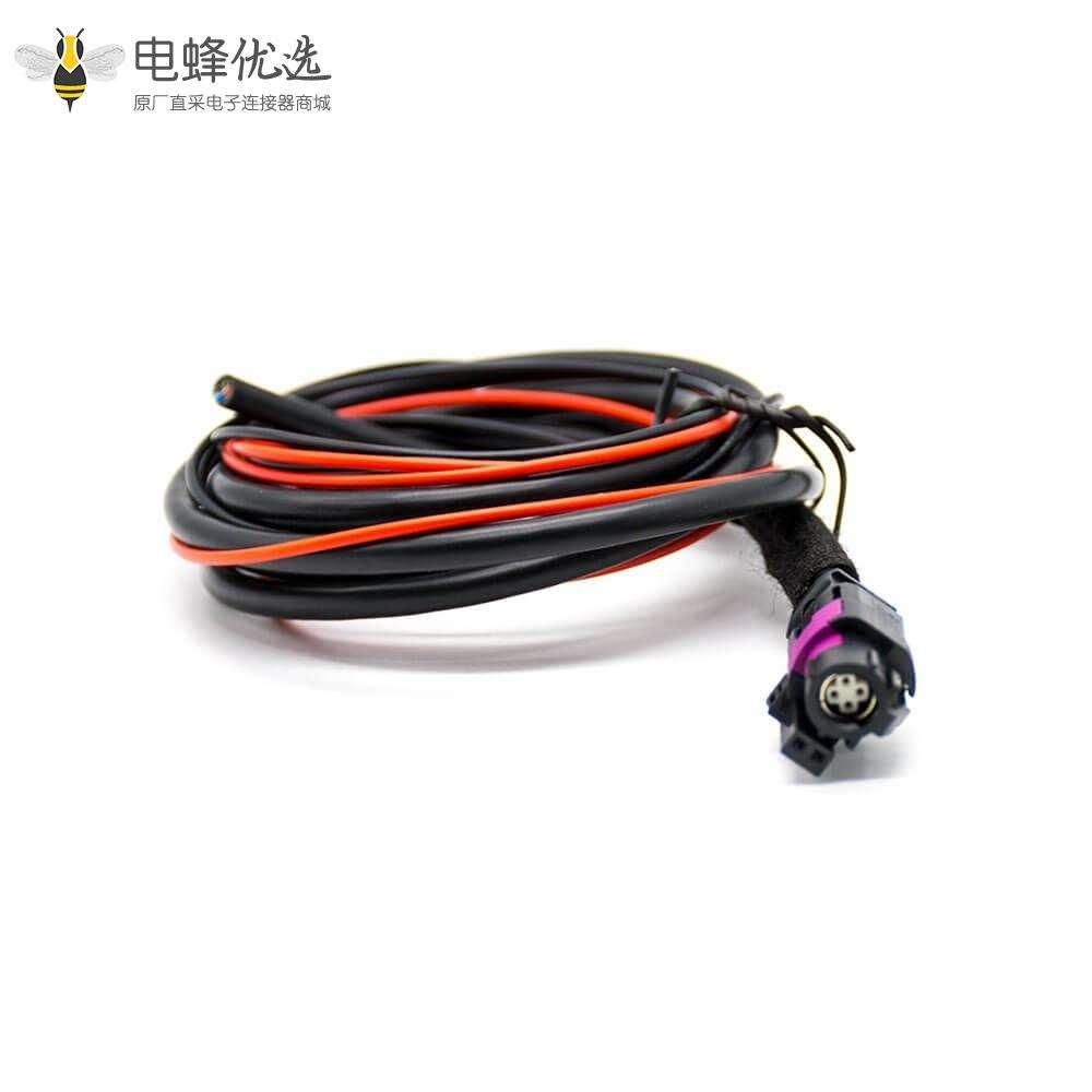 HSD线材6芯母头直式连接器1米