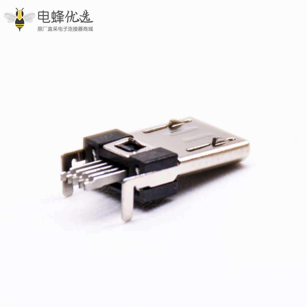USB2.0接口Micro-B 5芯直式公头 插孔式PCB板安装