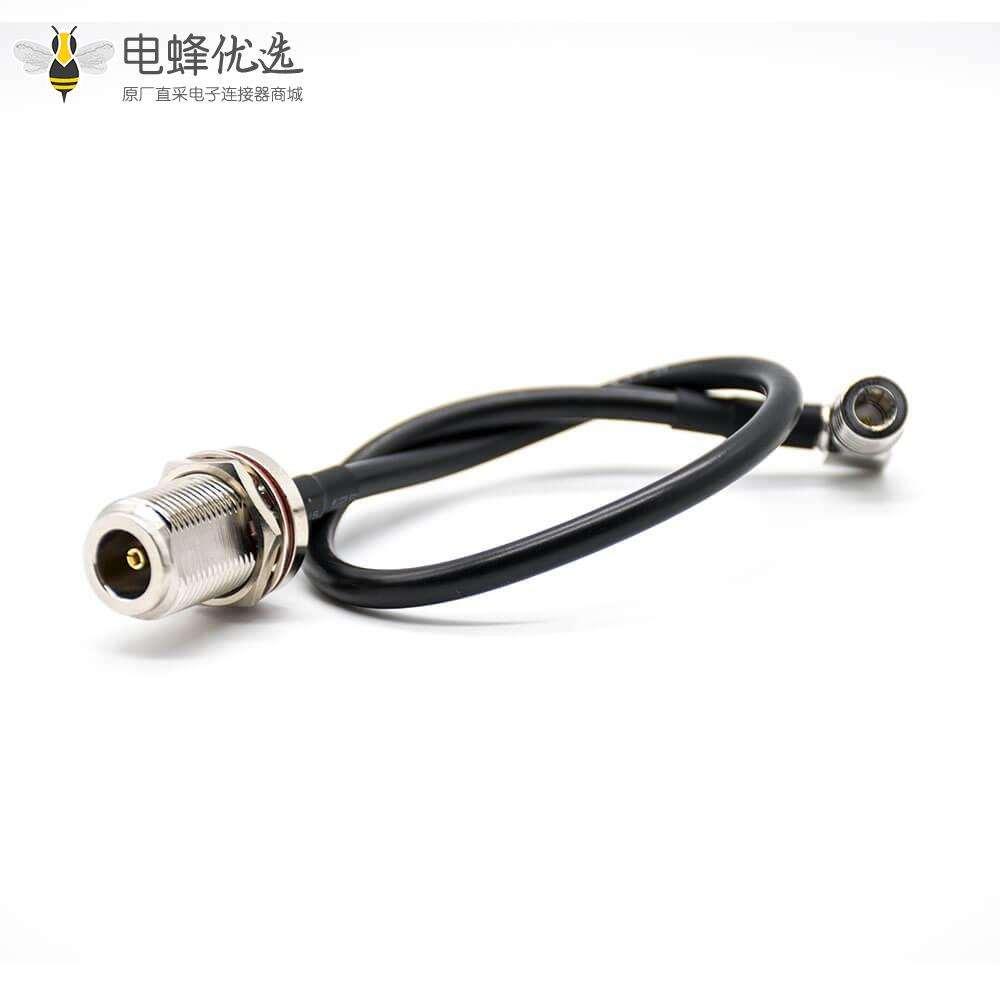 QMA 连接器弯式公头转N头母头直式LMR195电缆线1米