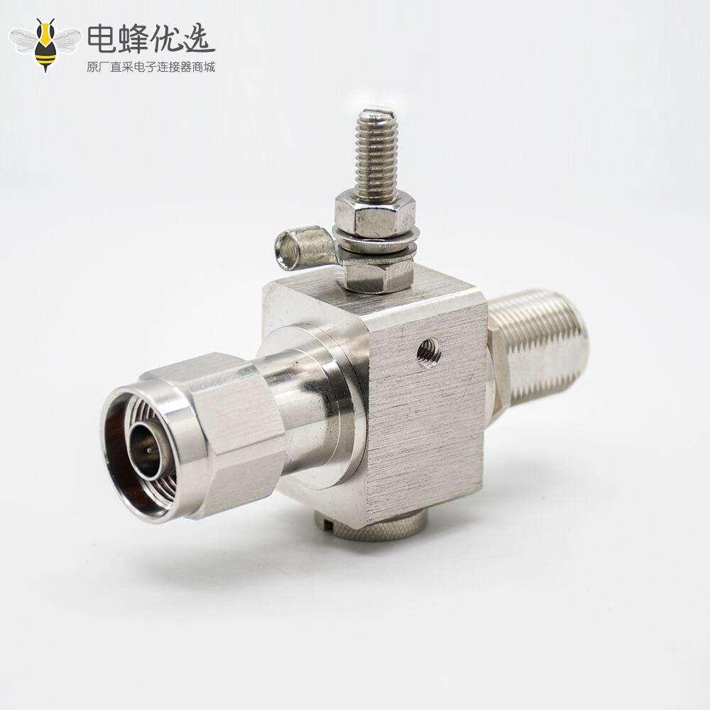 N头避雷器IP67N公头转N母头180°RF射频同轴连接器镀镍