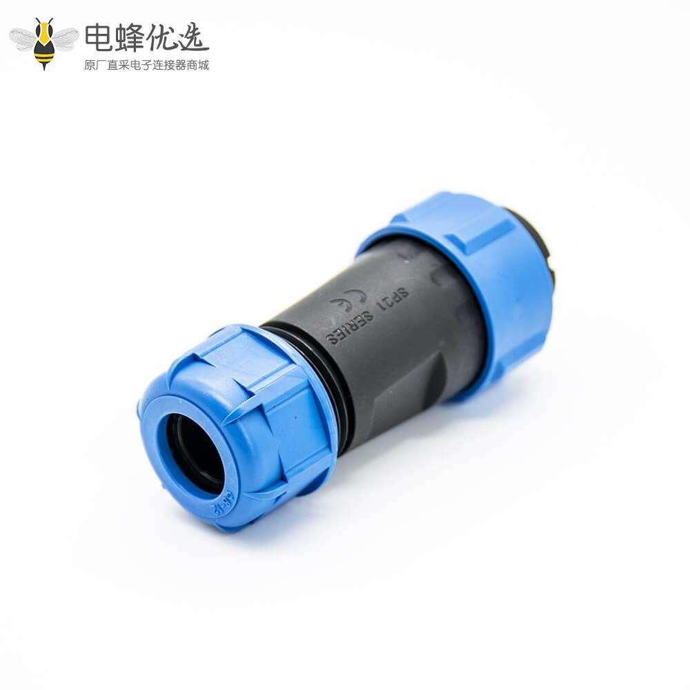 工业防水插头插座连接器SP21对接式4芯公插头母插头 防水防尘焊接接线