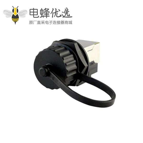 防水的RJ45面板安装连接器母头插座IP67