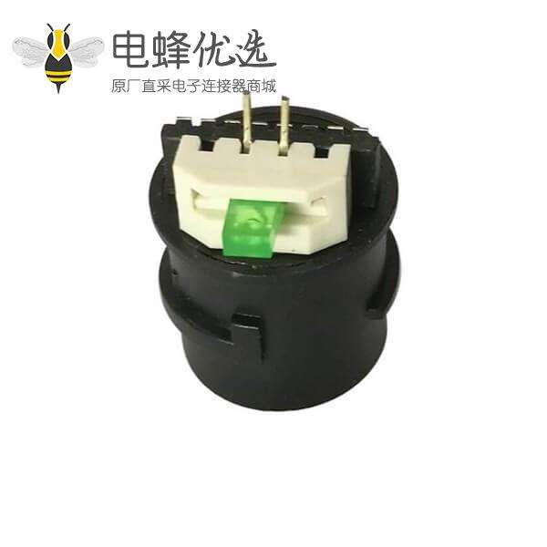 防水RJ45尾线扁平端子黑色带LED灯摄像头尾线网络母座
