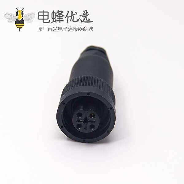 塑料航空插头RD24 J10防水直式4芯母头传感器连接器不带屏蔽