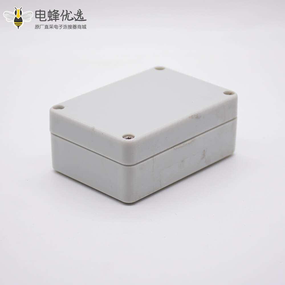 ABS防水接线盒矩形58×83×33螺丝固定塑料电源分线盒
