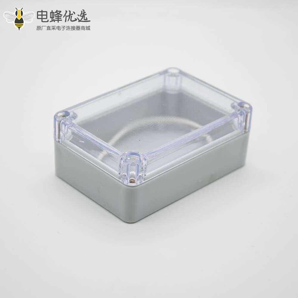 透明盖防水接线盒矩形58×83×33螺丝固定壳体ABS塑料