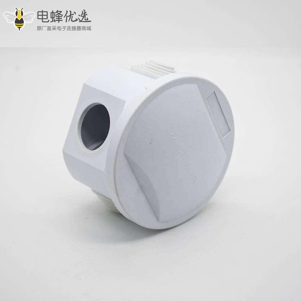 防水型接线盒圆形80×50螺丝固定IP55ABS塑料密封防水盒