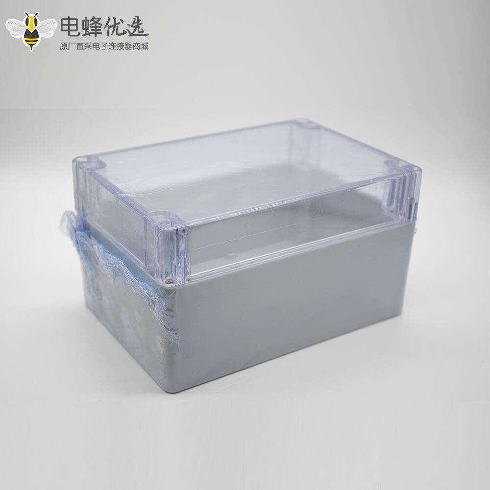 密封防水光缆接头盒110×160×90螺丝固定ABS塑透明料盖