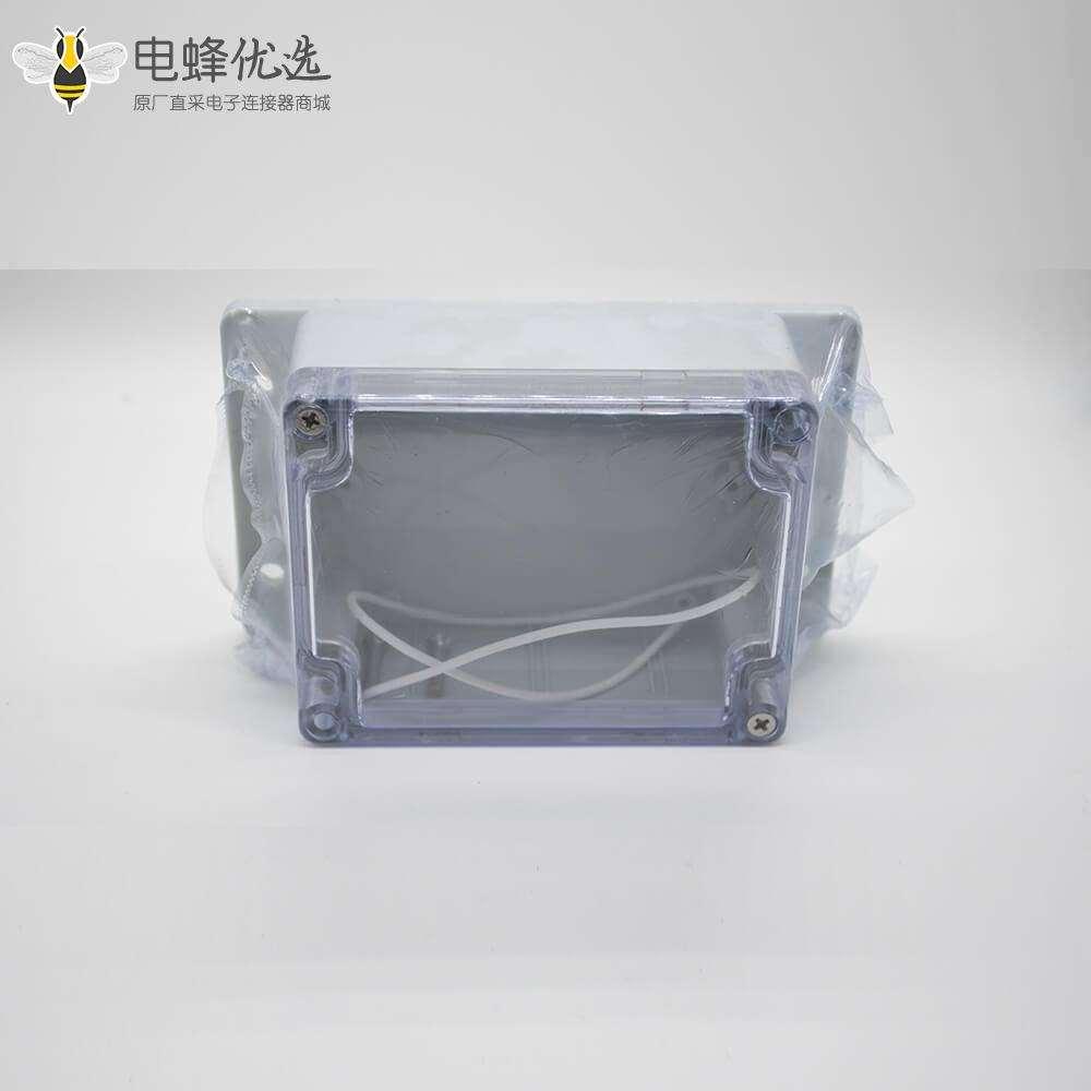 防水透明接线盒ABS塑料密封盒透明盖带耳螺丝固定115×90×55