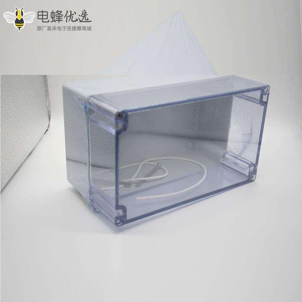 户外电源密封防水盒ABS塑料外壳120×200×113透明盖螺丝固定