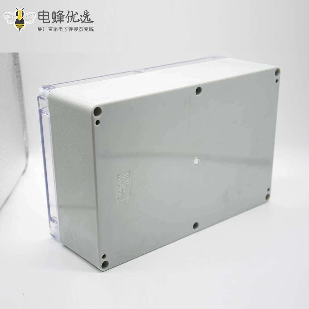 防水密封接线盒ABS塑料透明盖尺寸230×150×85螺丝固定