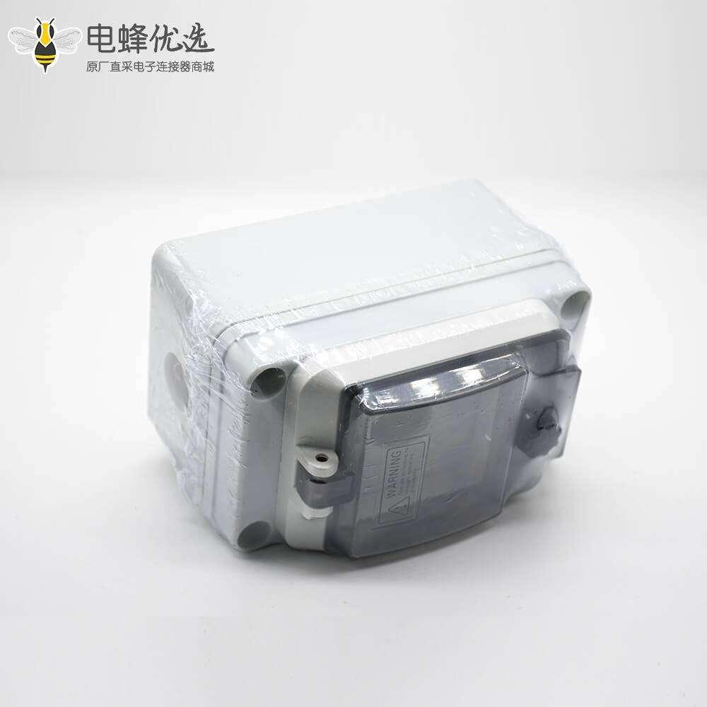 防水接线盒定制尺寸ABS塑料外壳IP67螺丝固定带防水透明窗罩