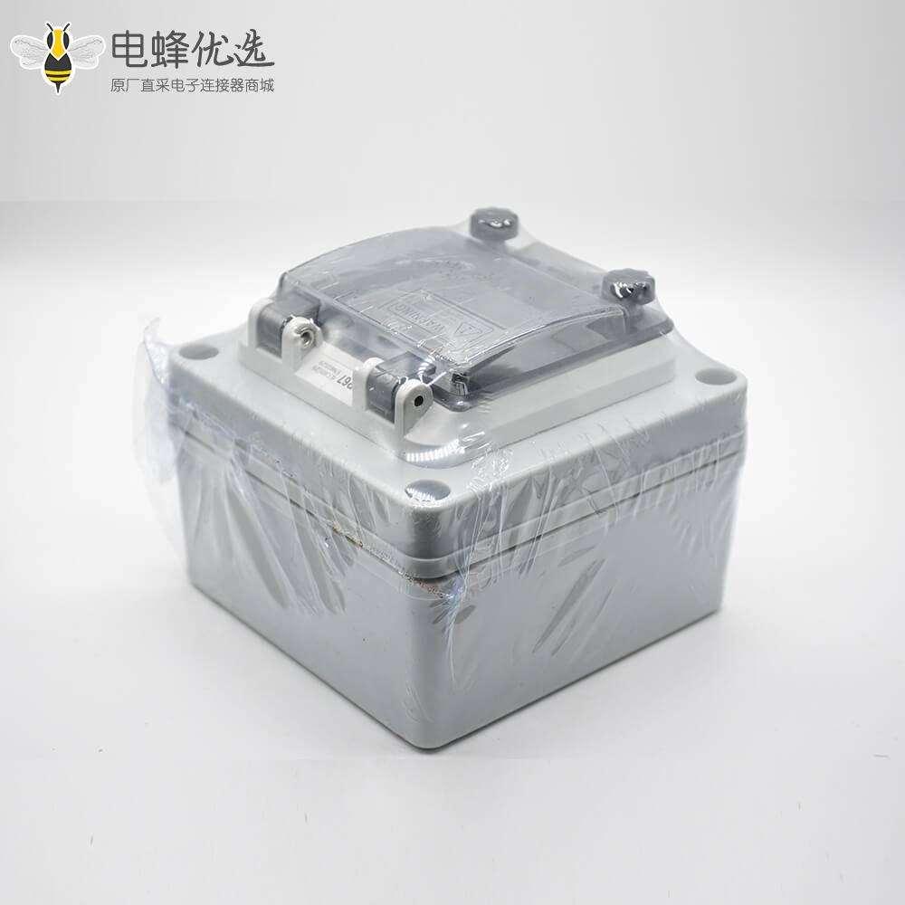 定制塑料防水盒矩形ABS塑料IP67螺丝固定可定制带防水透明窗罩