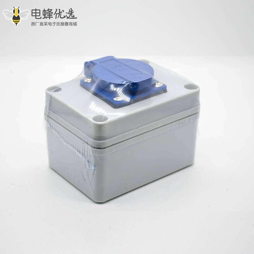 插座防水盒定制化ABS塑料外壳1位插座螺丝固定防水插座箱