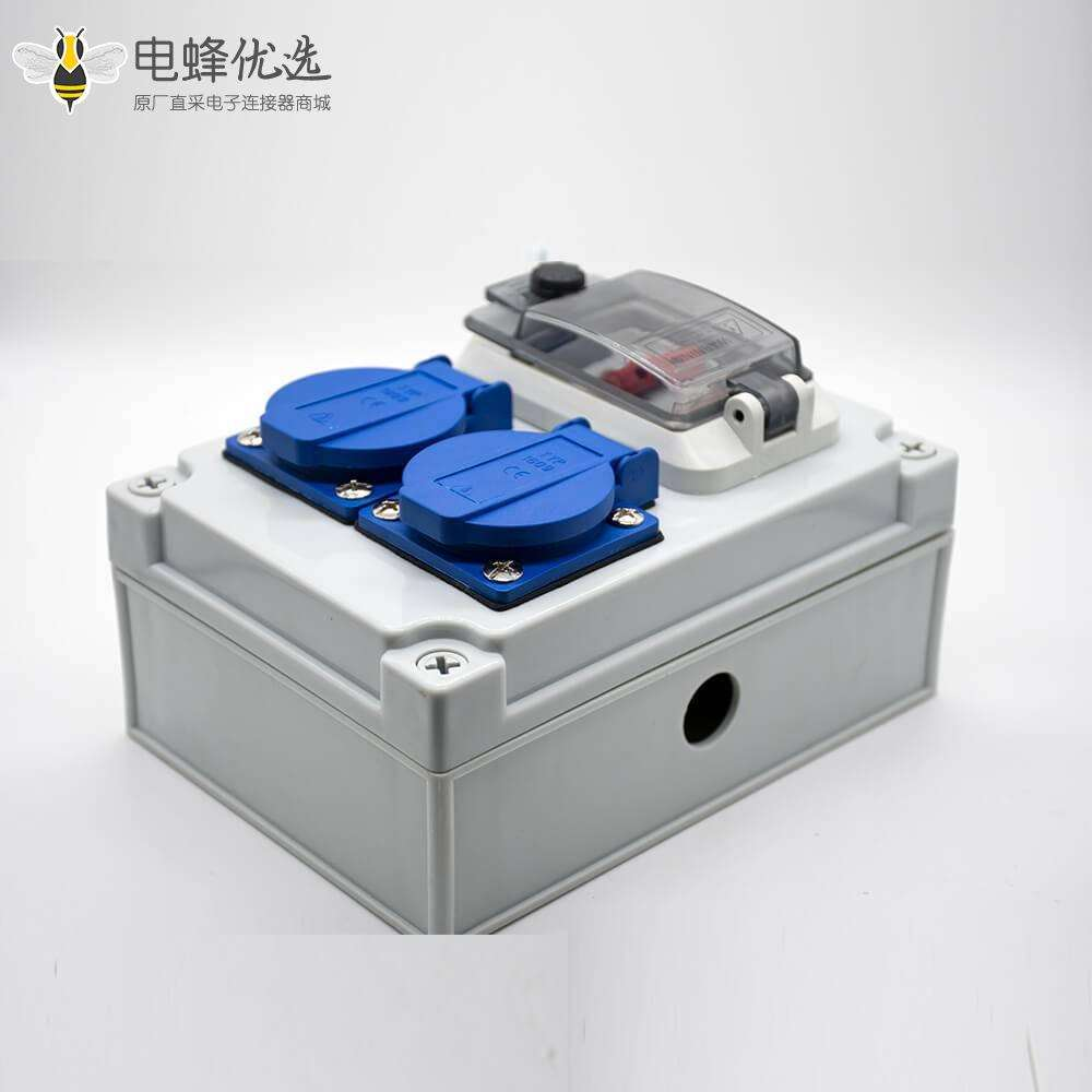 双位插座防水盒定制化ABS塑料优质断路器螺丝固定防水插座箱