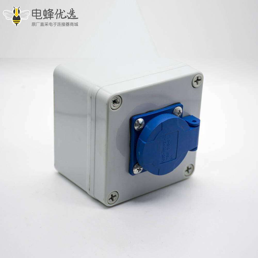 防水插座电源箱ABS塑料外壳1位插座螺丝固定电源插座盒