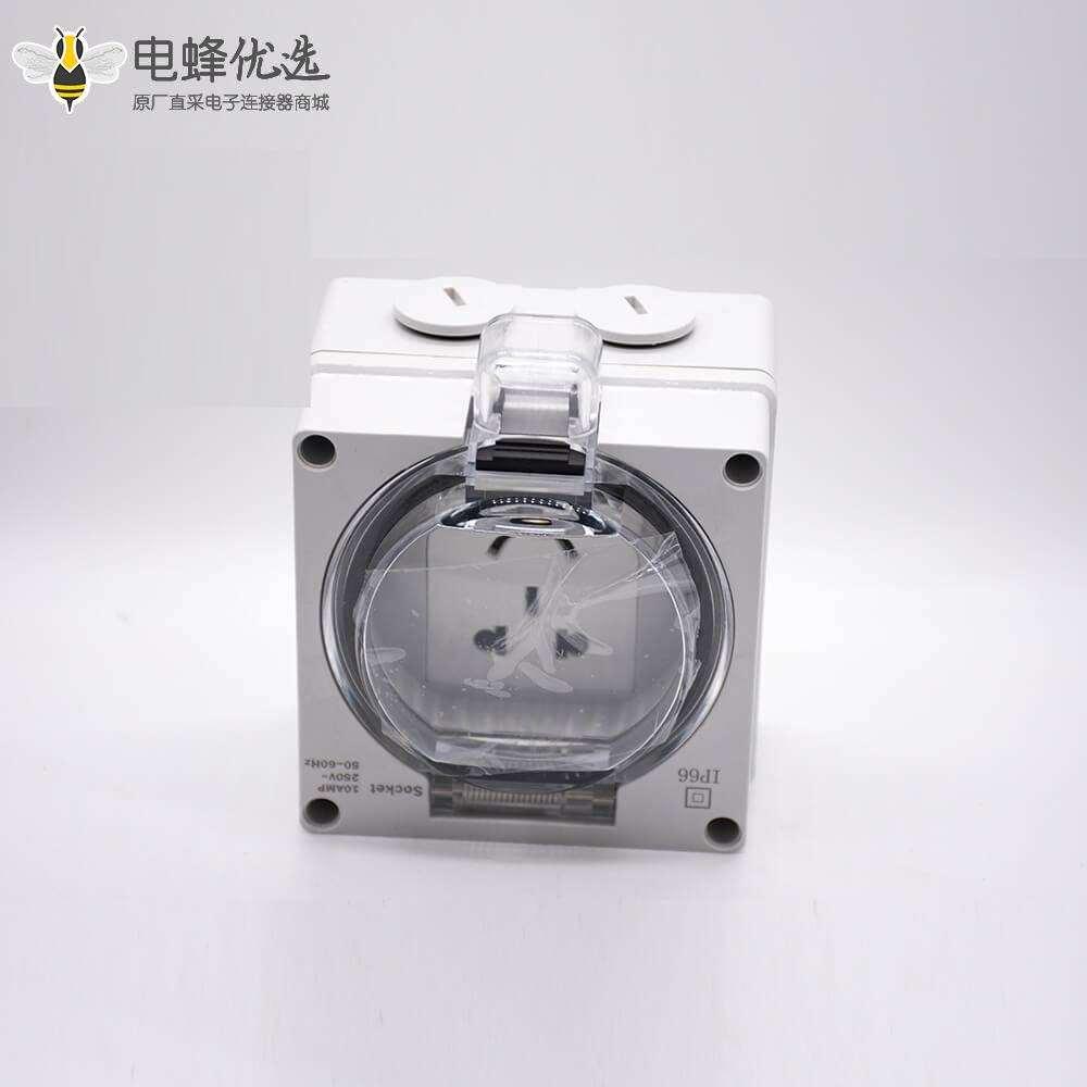 带防水盒五孔插座ABS塑料外壳透明盖定制化防水插座箱