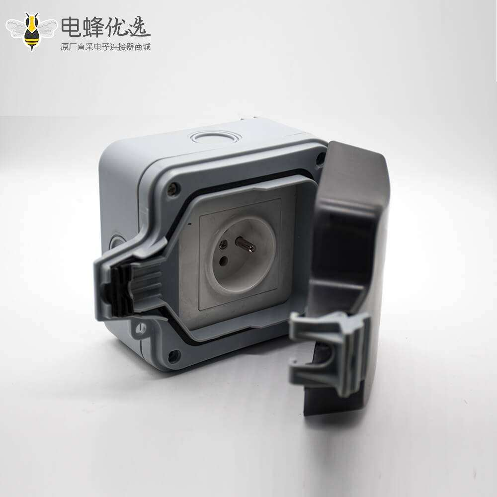 防水电源插座ABS塑料外壳卡扣安装可定制防水箱
