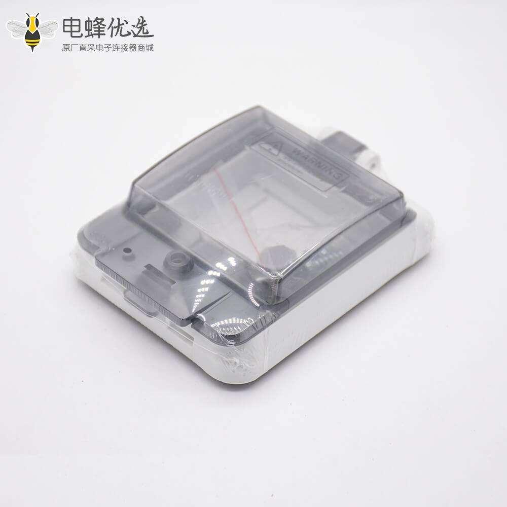 透明保护窗罩带透明盖螺丝固定IP67塑料防水保护窗口