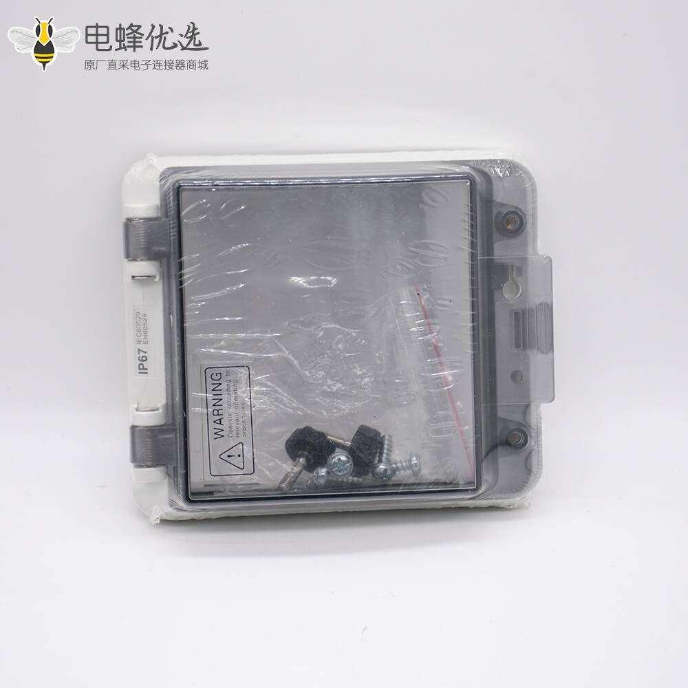 配电箱透明操作窗口IP67带透明盖螺丝固定塑料壳体防水透明窗罩