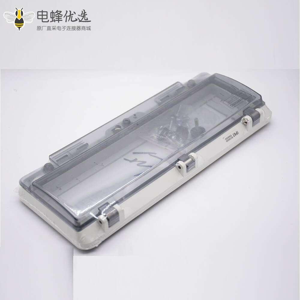 防水开关窗罩螺丝固定IP67带透明盖塑料壳体透视窗