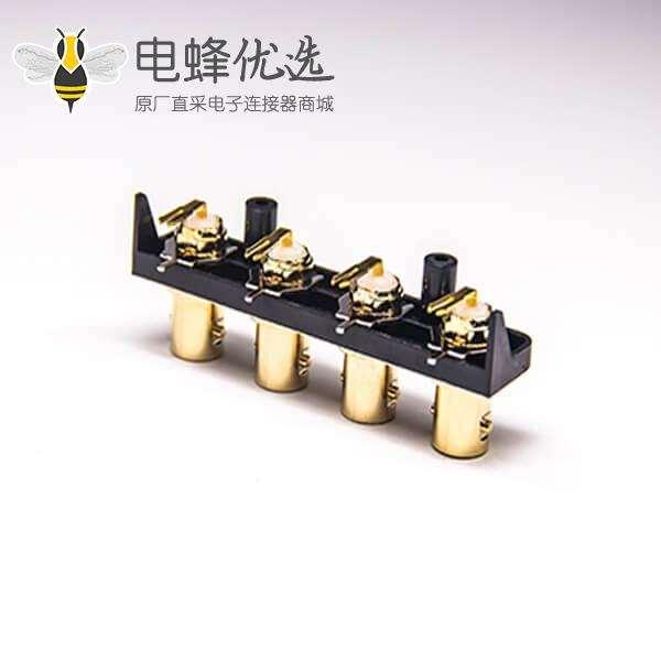 4孔BNC接口母头弯式PCB板插板式50欧姆