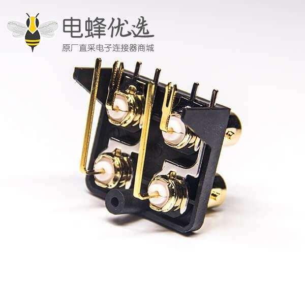 BNC射频连接器生产厂家弯式母头插板接PCB板