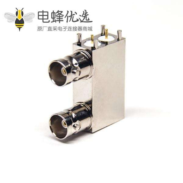 BNC母座封装 PCB弯式插板50欧姆