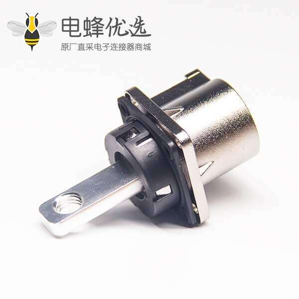 汽车高压互锁连接器200A金属1芯插座8mm直式A键位6.5mm通孔