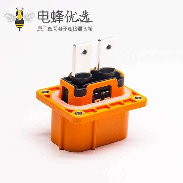 高压电插座M6螺孔2芯塑胶插座150A直式A键位