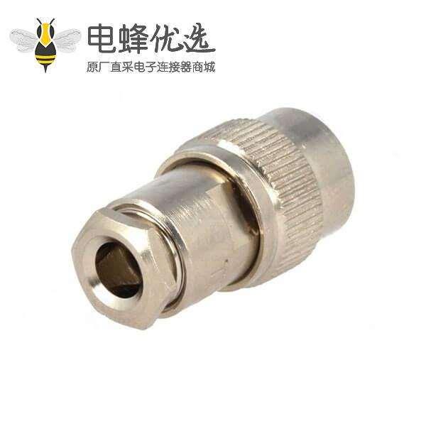 TNC插头公头直50Ω锁接接线RG58